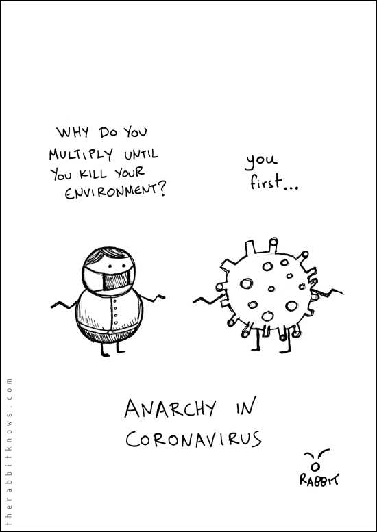 Anarchy in coronavirus